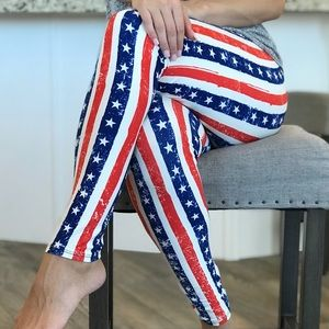 c753023b9ba Pants - Buttery soft Americana Stars   Stripes Leggings TC
